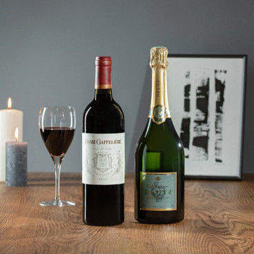 Coffret vin champagne personnalisé