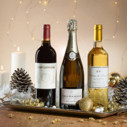 offrir vin champagne noel