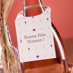 Etiquette Bonne fête Maman