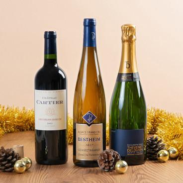 cadeau champagne vin noel