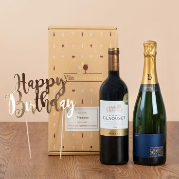 coffret vin champagne anniversaire